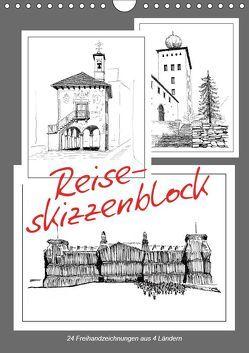 Reise-Skizzenblock (Wandkalender 2019 DIN A4 hoch) von J. Richtsteig,  Walter