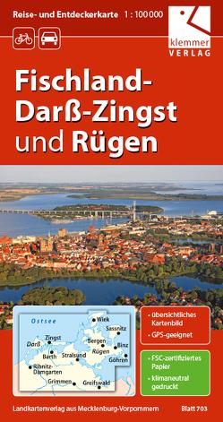 Reise- und Entdeckerkarte Fischland-Darß-Zingst und Rügen von Goerlt,  Heidi, Klemmer,  Klaus, Kuhlmann,  Christian, Wachter,  Thomas