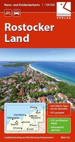 Reise- und Entdeckerkarte Rostocker Land von Goerlt,  Heidi, Klemmer,  Klaus, Kuhlmann,  Christian, Wachter,  Thomas
