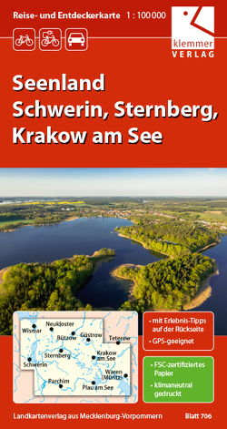 Reise- und Entdeckerkarte Seenland Schwerin, Sternberg, Krakow am See von Goerlt,  Heidi, Klemmer,  Klaus, Kuhlmann,  Christian, Wachter,  Thomas