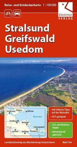 Reise- und Entdeckerkarte Stralsund, Greifswald, Usedom von Goerlt,  Heidi, Klemmer,  Klaus, Kuhlmann,  Christian, Wachter,  Thomas