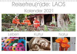 Reisefreu(n)de: Laos (Wandkalender 2021 DIN A3 quer) von Gruse,  Sven