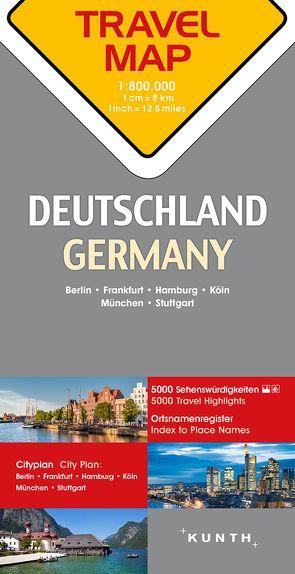 Reisekarte Deutschland 1:800.000