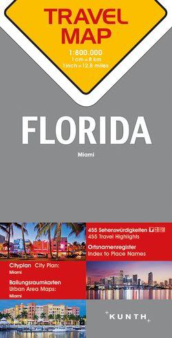 Reisekarte Florida 1:800.000