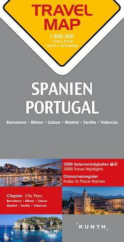 Reisekarte Spanien, Portugal 1:800.000
