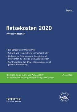 Reisekosten 2020 von Deck,  Wolfgang