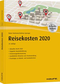 Reisekosten 2020 – inkl. Arbeitshilfen online von Hartmann,  Rainer, Sprenger,  Andreas