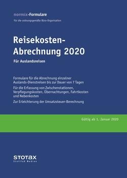 Reisekosten-Abrechnung 2020, Auslandsreisen, Formularblock