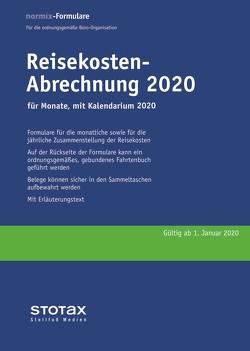 Reisekosten-Abrechnung 2020 mit Kalendarium