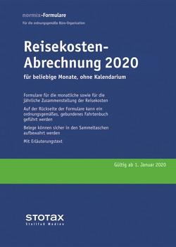 Reisekosten-Abrechnungen 2020 ohne Kalendarium
