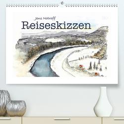 Reiseskizzenbuch (Premium, hochwertiger DIN A2 Wandkalender 2020, Kunstdruck in Hochglanz) von Notroff,  Jens