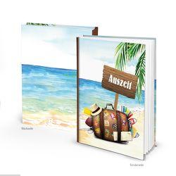 """Reisetagebuch """"Auszeit"""" Koffer Strand (Hardcover A5, Blankoseiten)"""