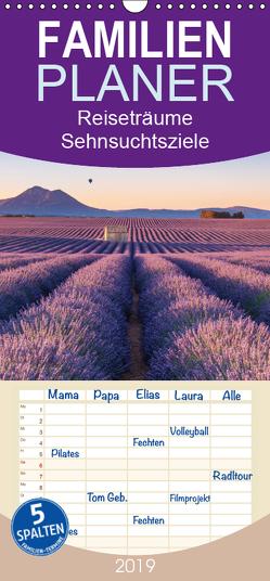 Reiseträume – Sehnsuchtsziele rund um den Globus – Familienplaner hoch (Wandkalender 2019 , 21 cm x 45 cm, hoch) von Büchler und Martin Büchler,  Christine