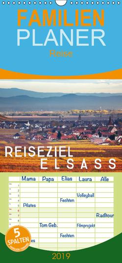 Reiseziel Elsass – Familienplaner hoch (Wandkalender 2019 , 21 cm x 45 cm, hoch) von Cross,  Martina