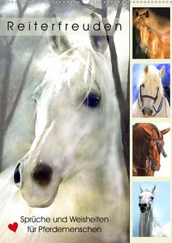 Reiterfreuden. Sprüche und Weisheiten für Pferdemenschen (Wandkalender 2021 DIN A2 hoch) von Hurley,  Rose
