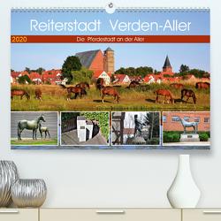 Reiterstadt Verden – Aller (Premium, hochwertiger DIN A2 Wandkalender 2020, Kunstdruck in Hochglanz) von Klünder,  Günther