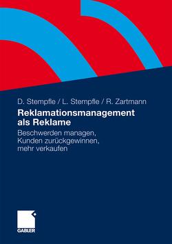 Reklamationsmanagement als Reklame von Stempfle,  Doris, Stempfle,  Lothar, Zartmann,  Ricarda