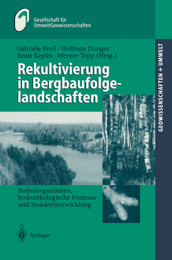 Rekultivierung in Bergbaufolgelandschaften von Broll,  Gabriele, Dunger,  Wolfram, Geldmacher,  H., Huch,  M., Keplin,  Beate, Topp,  Werner