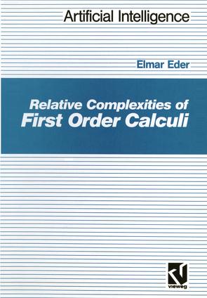 Relative Complexities of First Order Calculi von Eder,  Elmar
