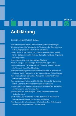Religion im Zeitalter der Aufklärung von Kreimendahl,  Lothar, Neugebauer-Wölk,  Monika, Vollhardt,  Friedrich