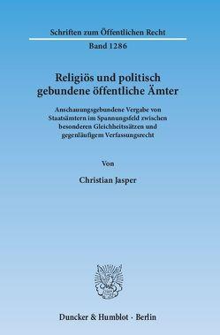 Religiös und politisch gebundene öffentliche Ämter. von Jasper,  Christian