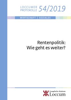 Rentenpolitik: von Lange,  Joachim, Sesselmeier,  Werner