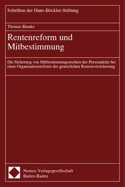 Rentenreform und Mitbestimmung von Blanke,  Thomas