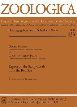Report on the Stony Corals from the Red Sea von Pillai,  C S, Scheer,  Georg