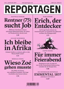 Reportagen #44 von Bädorf,  Marc, Fiedler,  Matthias, Gotthelf,  Jeremias, Riedel,  Sabine, Schiemenz,  Juliane, Zindel,  Mireille