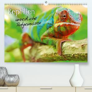 Reptilien urzeitliche Artgenossen (Premium, hochwertiger DIN A2 Wandkalender 2021, Kunstdruck in Hochglanz) von Mosert,  Stefan