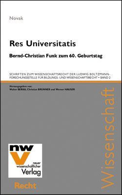 Res Universitatis von Novak,  Manfred