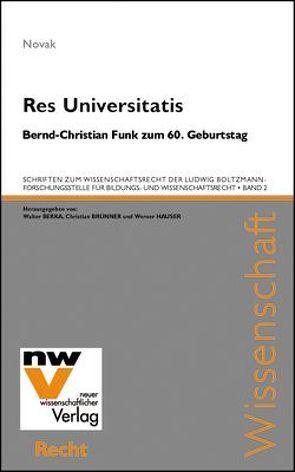 Res Universitatis von Novak,  Manfred