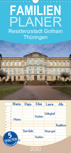 Residenzstadt Gotha in Thüringen – Familienplaner hoch (Wandkalender 2020 , 21 cm x 45 cm, hoch) von Flori0