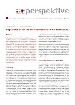 Responsible Research and Innovation: reflexive Ethik in der Forschung von Kurtze,  Hannes, Wehrmann,  Christian