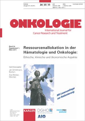 Ressourcenallokation in der Hämatologie und Onkologie von Schildmann, Winkler