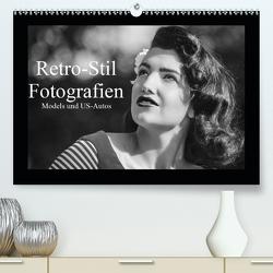 Retro-Stil Fotografien Models und US-Autos (Premium, hochwertiger DIN A2 Wandkalender 2021, Kunstdruck in Hochglanz) von Jaster,  Michael