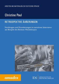 Retrospektive Äußerungen von Paul,  Christine