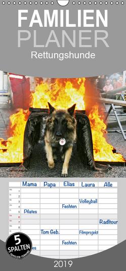 Rettungshunde – Familienplaner hoch (Wandkalender 2019 , 21 cm x 45 cm, hoch) von Mirlieb,  Ulf