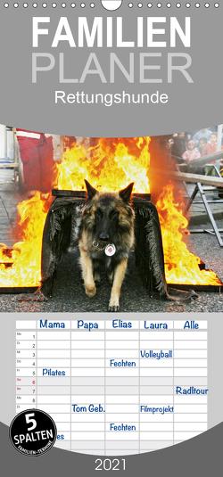 Rettungshunde – Familienplaner hoch (Wandkalender 2021 , 21 cm x 45 cm, hoch) von Mirlieb,  Ulf