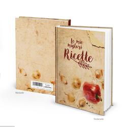 "Rezeptbuch ""Le mi migliori ricette"" vintage italienisch (Hardcover A5, Blankoseiten)"