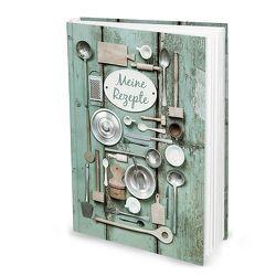 "Rezeptbuch ""Grüne Miniaturen"" (Hardcover A4, Blankoseiten)"