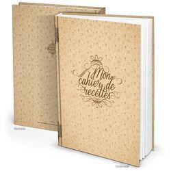 "Rezeptbuch ""Mon cahier de recettes"" französisch (Hardcover A4, Blankoseiten)"