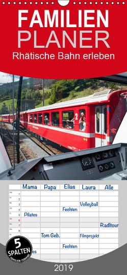 Rhätische Bahn erleben – Familienplaner hoch (Wandkalender 2019 , 21 cm x 45 cm, hoch) von Riedmiller,  Andreas