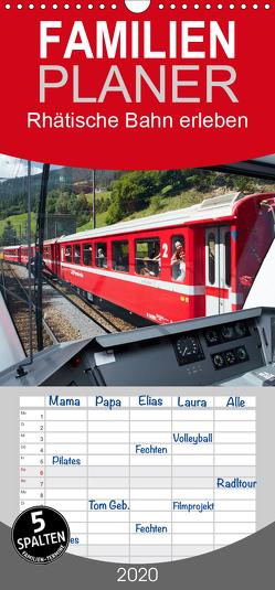 Rhätische Bahn erleben – Familienplaner hoch (Wandkalender 2020 , 21 cm x 45 cm, hoch) von Riedmiller,  Andreas