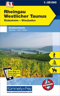 Rheingau Westlicher Taunus Nr. 51 Outdoor Deutschland 1:35 000