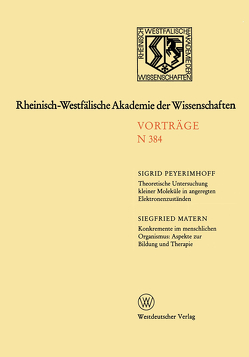 Rheinisch-Westfälische Akademie der Wissenschaften von Peyerimhoff,  Sigrid