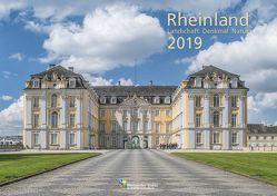 Rheinland 2019 Wandkalender A4 quer Spiralbindung 28 Blatt mit 56 Seiten von klaes-regio Fotoverlag, Rheinischer Verein für Denkmalpflege und Landschaftsschutz e.V.
