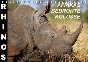 RHINOS – AFRIKAS BEDROHTE KOLOSSE (Tischkalender 2018 DIN A5 quer) von Woyke,  Wibke