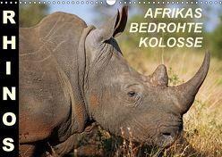 RHINOS – AFRIKAS BEDROHTE KOLOSSE (Wandkalender 2018 DIN A3 quer) von Woyke,  Wibke