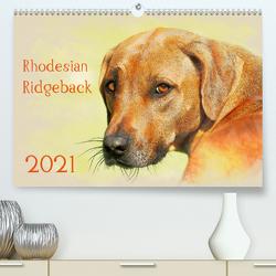 Rhodesian Ridgeback 2021 (Premium, hochwertiger DIN A2 Wandkalender 2021, Kunstdruck in Hochglanz) von Redecker,  Andrea